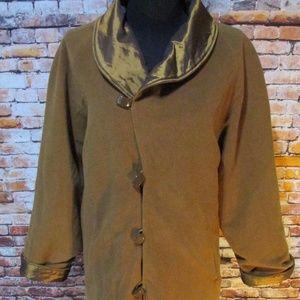 Coldwater Creek Reversible Wool Blend Coat NWT